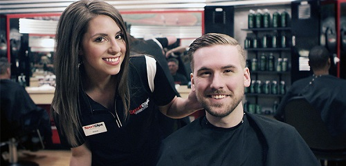 Sport Clips Haircuts of Dardenne Town Square​ stylist hair cut